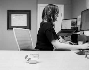 Gavin Halligan Working At Her Desk