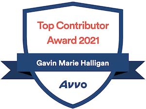 Avvo Top Contributor 2021 Badge